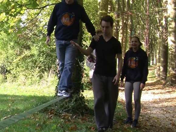 Team building Gestion du stress Slackline Experience